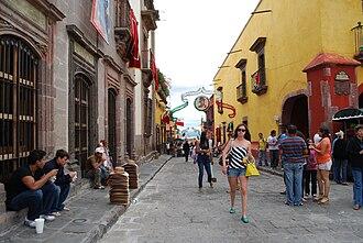 San Miguel de Allende - View of calle Umaran in the downtown.