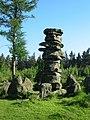 High stone pillar adjacent to the Druid's Temple near Ilton - geograph.org.uk - 184328.jpg