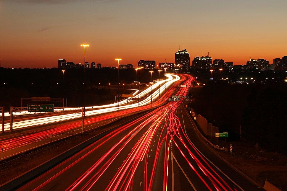 Highway 401 by 401-DVP