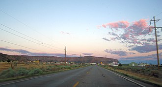 Hildale, Utah - Approaching Hildale in the evening from the northwest on Utah State Route 59