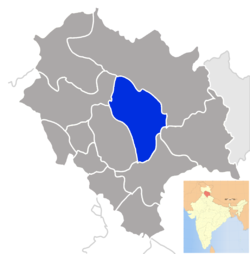 Location of Kullu district in Himachal Pradesh