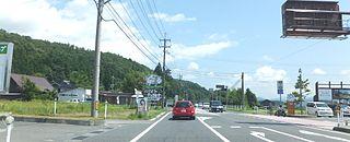 Japan National Route 482 road in Japan