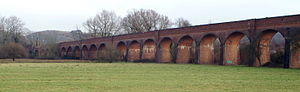 Didcot, Newbury and Southampton Railway - Part of Hockley Viaduct in 2005