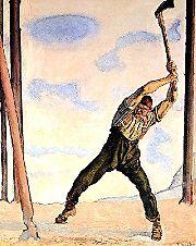 Holzfäller (Gemälde von Ferdinand Hodler, 1910)
