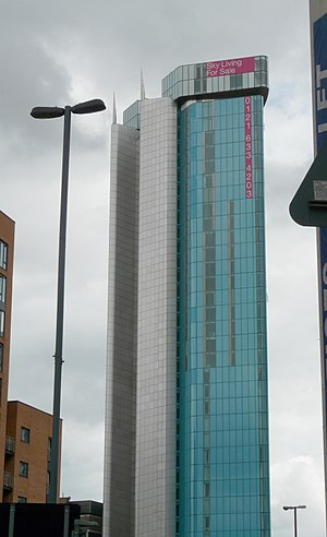10 Holloway Circus - The tower from approximately 250 metres away.