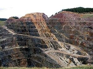 Homestake Mine (South Dakota) - The Homestake Mine pit in Lead, South Dakota