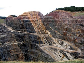 Lead, South Dakota - The Homestake Mine pit in Lead, South Dakota