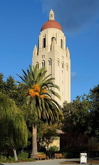 Stanford University - Hoover Tower, inspired by the cathedral tower at Salamanca in Spain