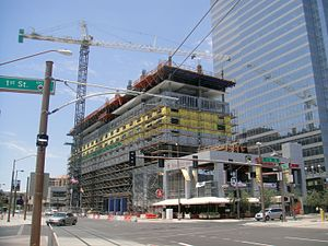 Central City, Phoenix - Hotel Palomar under construction in Downtown Phoenix, part of the Cityscape complex.