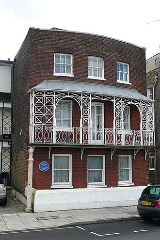 Gustav Holst - The house in Barnes where Holst lived between 1908 and 1913. A commemorative blue plaque is fixed to the front