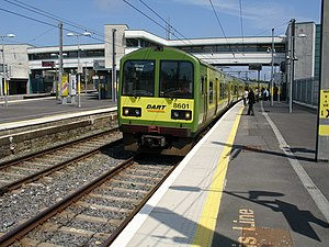 Dublin Area Rapid Transit - An 8500 Class DART  train at Howth Junction