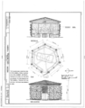 Hubbell Trading Post, Gazebo, Ganado, Apache County, AZ HABS ARIZ,1-GANA,1G- (sheet 1 of 1).png