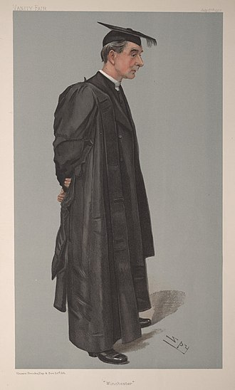 Winchester College - Hubert Burge (Headmaster 1901 to 1911), from Vanity Fair