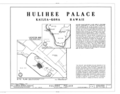 Hulihee Palace, Alii Drive, Kailua, Hawaii County, HI HABS HI,1-KAIKO,1- (sheet 1 of 8).png