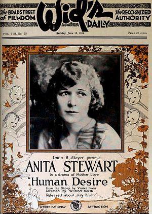 Human Desire (1919 film) -  Wids advert