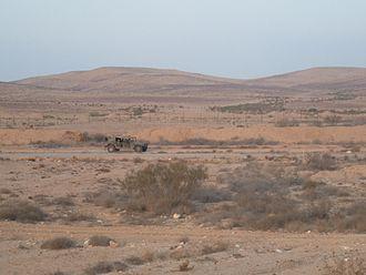 Egypt–Israel barrier - Old Israel–Egypt border fence near Nitzana.