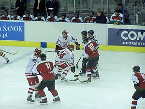 Hungarian national ice hockey team vs. Poland (2006).jpg