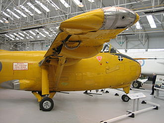 Hunting H.126 - The H.126's blown flaps, wing tip thrusters and main exhausts are seen here