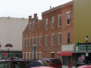 Huntington, Indiana - Buildings that once sat along the Wabash and Erie Canal. Foreground was once a boat basin.