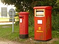 Hurn, two postboxes and a rabbit - geograph.org.uk - 1436246.jpg