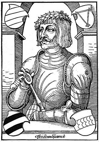 1480s in poetry - Ulrich von Hutten by Erhard Schön, c. 1522
