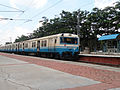 Hyderabad bound MMTS Local at Necklace Road Station 01.jpg