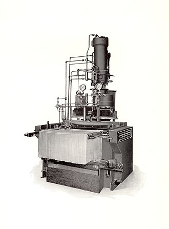 Spaghetti - Image: Hydraulic Spaghetti Press with Automatic Spreader built by Consolidated Macaroni Machine Corporation 001