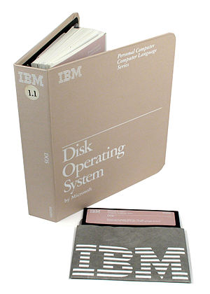 IBM PC DOS -  User manual and diskette for IBM PC DOS 1.1