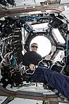 ISS-56 Serena Auñon-Chancellor with sunglasses inside the Cupola.jpg
