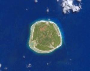 Rimatara - NASA picture of Rimatara Island