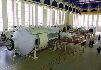 Nauka (ISS module) - Nauka training mockup at the Gagarin Cosmonaut Training Center in April 2012.