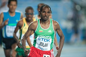 Ibrahim Jeilan - Ibrahim at 2011 World Championships Men's 10,000 metres
