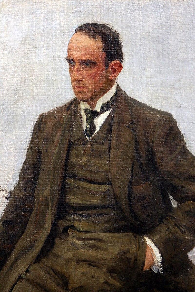 Илья репин, ритратто делло скульптор паоло трубецкой, 1908, 02.jpg