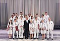 Ilham Aliyev met with athletes who competed in 31st Summer Olympic Games (Ilham Aliyev and all medalist).jpg