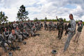 Indian Army Capt. Praveen Kumar answers questions from U.S. Army paratroopers after his soldiers demonstrated an ambush.jpg