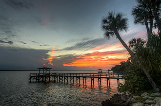Indian Harbour Beach, Florida - Image: Indian Harbour Beach Sunset