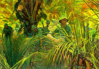 151st Infantry Regiment (United States) - Company D (Ranger), 151st Infantry Regiment on patrol in Vietnam (from United States Army Center of Military History