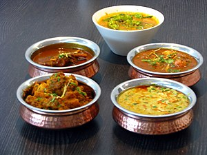 Curry - A variety of vegetable curries from India