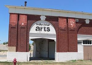 National Register of Historic Places listings in Lancaster County, Nebraska - Image: Industrial Arts bldg (Lincoln, NE) SW corner 1