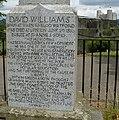 Inscription on the David Williams memorial - geograph.org.uk - 1964722.jpg