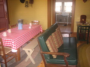 Muleshoe Heritage Center - Interior of the Figure 4 Ranch House