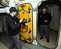 Inspectors review spaces of the retired battleship USS Wisconsin. (8428932733).jpg