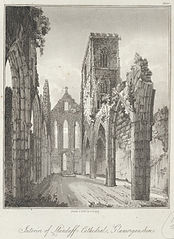 Interior of Llandaff cathedral, Glamorganshire
