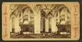 Interior view of the Baptist chapel showing seats and pews and the organ above the altar, from Robert N. Dennis collection of stereoscopic views.png