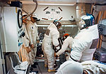 Interior view of the White Room atop Pad A during the insertion of the Apollo 12 crew.jpg