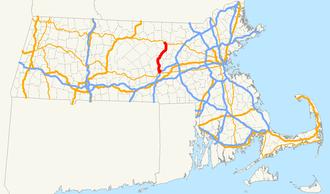 Interstate 190 (Massachusetts) - Image: Interstate 190 Massachusetts