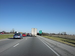 Interstate 69 - Looking on I-69 just outside Indianapolis near Pendleton