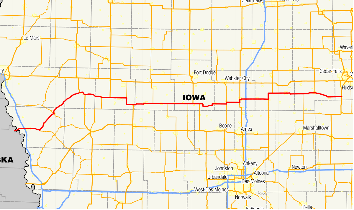 National Highway Freight Network Map and Tables for Iowa - FHWA ...