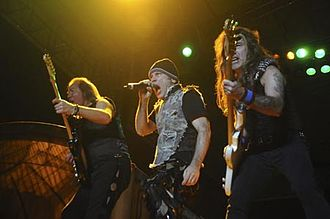 Indian rock - Heavy Metal group Iron Maiden performing live in Bangalore