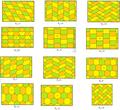 Isohedral hexagonal tilings.png